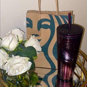 Starbucks Berry Plum Grid Disco Plastic Cold Cup